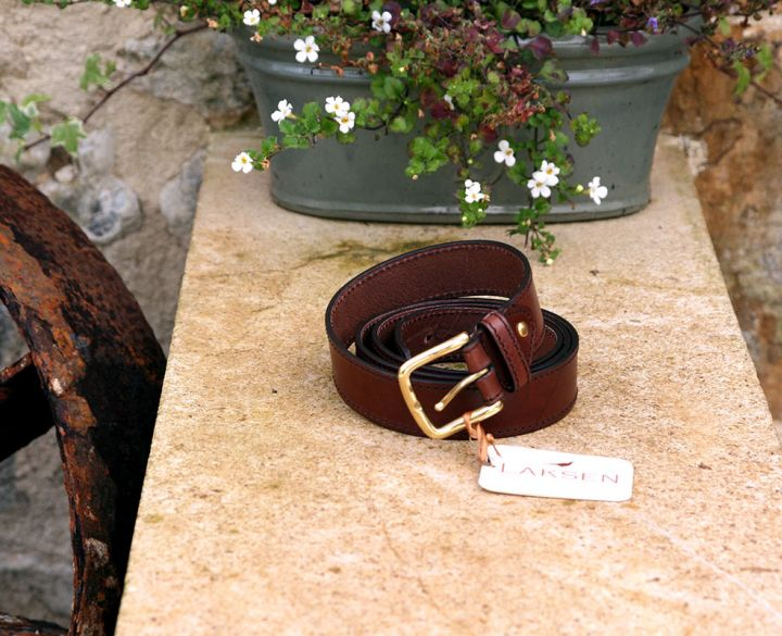 Leather belt in a rich mahogany