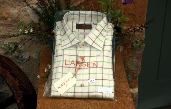 Laksen Shirt  Timothy- brown, green, blue & t