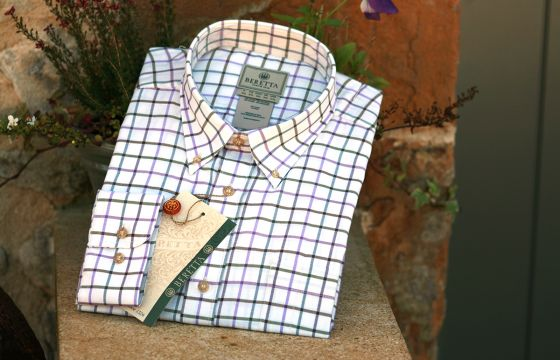 Beretta Shirt - Purple Check
