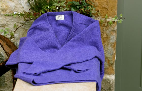 William Lockie Lambswool Jumper -  Heliotrope