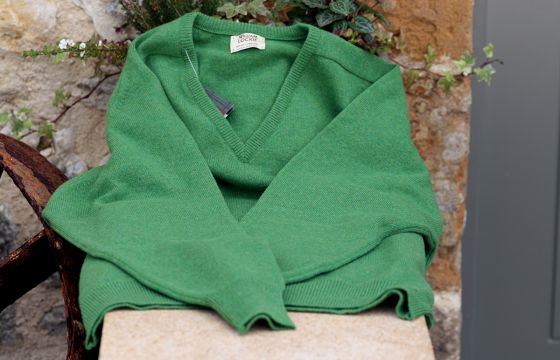 William Lockie Lambswool Jumper - Watercress