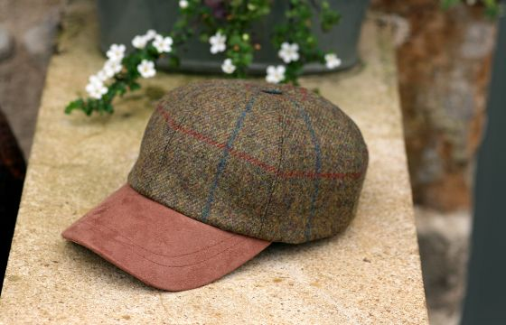 Olney Tweed Sport Cap-Green