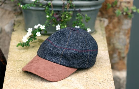 Olney Tweed Sport Cap - Grey
