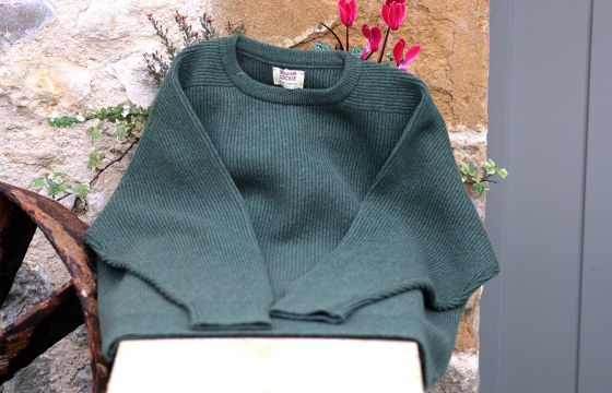 William Lockie Royal Rib Jumper - Rosemary