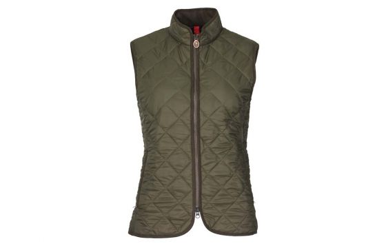Laksen Audley Quilted Ladies Vest (Green)