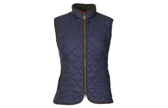 Laksen Audley Quilted Ladies Vest (Navy)