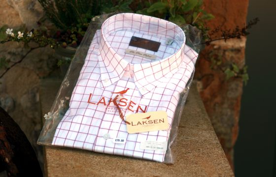 Laksen Shirt Greg Pin Point Oxford - red grenade